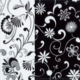 Formas Florales B/N II Affiches