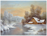 Winter At Lake Ladoga Prints by B. Smith