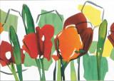Rote Blumen Trilogie II Prints by Walter Muth