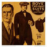 Vintage Boywear 1925 (Yellow) Poster by Jean-François Dupuis
