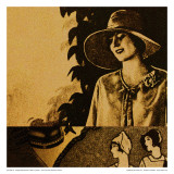 Vintage Womenwear 1925 II (Yellow) Poster by Jean-François Dupuis