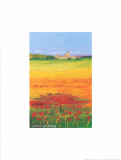 Sun On The Flower Field I Posters by Clara Carreres