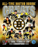Boston Bruins All-Time Greats Composite Photographie