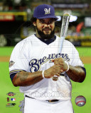 Prince Fielder with the 2011 All-Star Game MVP Award Photo