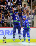 Alex Burrows & Henrik Sedin Celebrate Winning Game 2 of the 2011 NHL Stanley Cup Finals(14) Photo