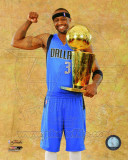 Jason Terry with the 2011 NBA Championship Trophy Game 6 of the 2011 NBA Finals Photo