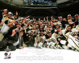 The Boston Bruins Celebrate Winning Game 7 of the 2011 NHL Stanley Cup Finals Photo