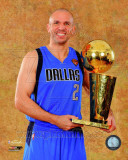 Jason Kidd with the 2011 NBA Championship Trophy Game 6 of the 2011 NBA Finals Photo