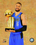 Tyson Chandler with the 2011 NBA Championship Trophy Game 6 of the 2011 NBA Finals Photo