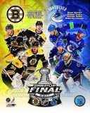 Boston Bruins Vs. Vancouver Canucks Stanley Cup Finals Match-Up Composite Photo
