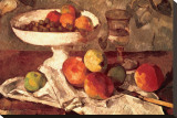 Still Life Stretched Canvas Print by Paul Cézanne