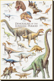Dinosaurs, Jurassic Period Stretched Canvas Print