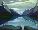 Maligne Lake, Jasper Park Stretched Canvas Print by Lawren S. Harris