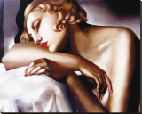 La Dormeuse Reproduction sur toile tendue par Tamara de Lempicka