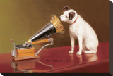 His Master's Voice Ad Stretched Canvas Print