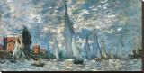 Les barques, régates à Argenteuil Reproduction transférée sur toile par Claude Monet