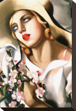 Portrait d'Une Jeune Fille Stretched Canvas Print by Tamara de Lempicka