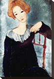 Woman with Red Hair Stretched Canvas Print by Amedeo Modigliani