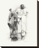 Lou Groza Stretched Canvas Print by Allen Friedlander