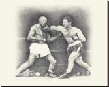 Rocky Marciano Reproduction transférée sur toile par Allen Friedlander