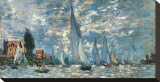 Regatta in Argenteuil Stretched Canvas Print by Claude Monet