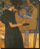 La musique Reproduction transférée sur toile par Gustav Klimt