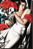 Portrait of Ira Stretched Canvas Print by Tamara de Lempicka