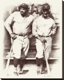 Ruth and Gehrig Stretched Canvas Print by Allen Friedlander