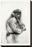 Shoeless Joe Jackson Stretched Canvas Print by Allen Friedlander