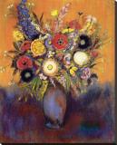 Fleurs Stretched Canvas Print by Odilon Redon