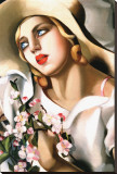 Portrait d&#39;Une Jeune Fille Stretched Canvas Print by Tamara de Lempicka