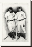 Dimaggio and Gehrig Stretched Canvas Print by Allen Friedlander