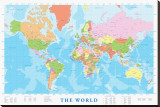 Map of the World Stretched Canvas Print