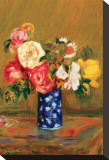 Roses in a Vase Stretched Canvas Print by Pierre-Auguste Renoir