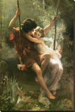 Springtime Stretched Canvas Print by Pierre-Auguste Cot
