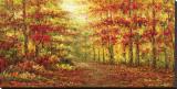 Autumn Path in Gogh Reproduction transférée sur toile par Karel Andries