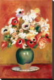 Flowers in a Vase Stretched Canvas Print by Pierre-Auguste Renoir