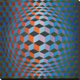 Victor Vasarely - Squares Reprodukce na plátně
