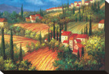 Village de Vinci Trykk på strukket lerret av Per Mattin