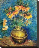 Crown Imperial Fritillaries in a Copper Vase, c.1886 Stretched Canvas Print by Vincent van Gogh
