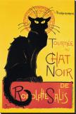 Chat Noir Stretched Canvas Print by Théophile Alexandre Steinlen