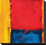 Abstract Composition in Red Stretched Canvas Print by Carmine Thorner