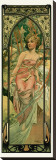 Morning Stretched Canvas Print by Alphonse Mucha