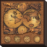 Cartographica III Stretched Canvas Print