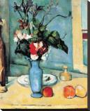 Blue Vase Stretched Canvas Print by Paul Cézanne