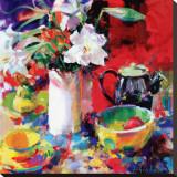 Morning Tea Leinwand von Peter Graham