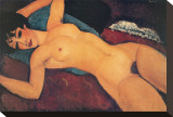 Nudo Disteso Stretched Canvas Print by Amedeo Modigliani