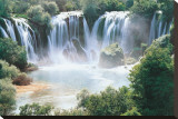 Waterfalls Stretched Canvas Print