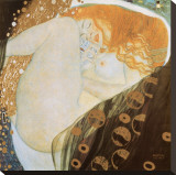 Danae Stretched Canvas Print by Gustav Klimt