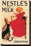 Nestle's Swiss Milk Reproduction transférée sur toile par Théophile Alexandre Steinlen